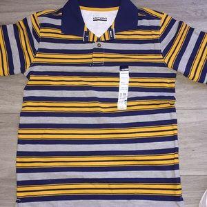 Striped short sleeve polo